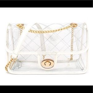Classic Clear Gold Chain Shoulder Bag